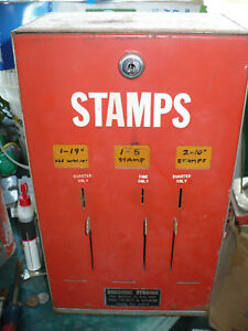 RED-Front-Postage-Stamp-Vending-Machine-3-Selection-25-cent-10-cent-25-cent