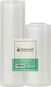 Nutri-Lock-Vacuum-Sealer-Bags-2-Rolls-11x50-and-8x50-Commercial-Grade-Food