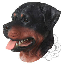 Latex Full Head Animal Rottweiler Dog High Quality Fancy Dress Up Carnival Mask