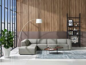 Details about Modern contemporary Grey Fabric Modular 5pc Sectional Sofa  set #V175848