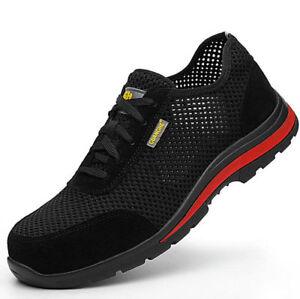 2019-Homme-Poids-leger-Embout-en-acier-Chaussures-de-travail-de-securite-Baskets