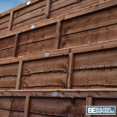 Wooden Garden Lap Fence Panels Overlap Fencing Panel 6ft 5ft 4ft 3ft