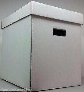 "Cardboard Storage Boxes & Lids 18 pc / 12"" Vinyl 33rpm LP Record Album supplies"