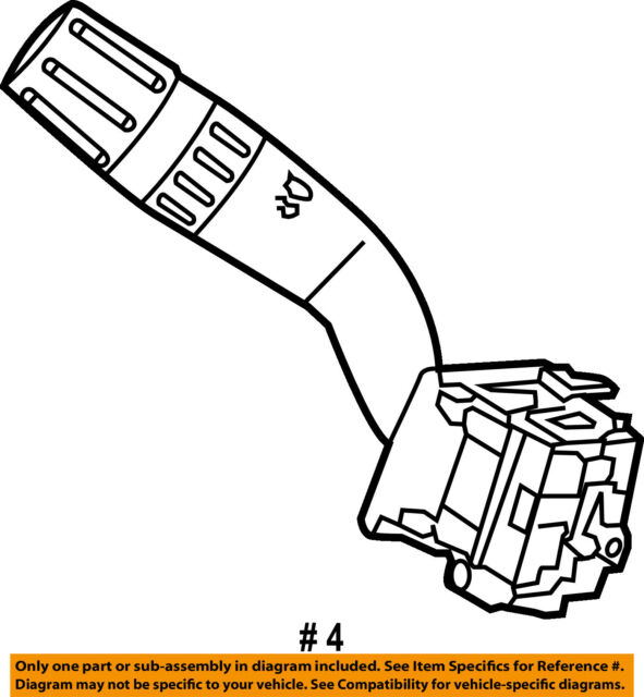 Ford Oem Multifunction Switch Lever Multi Function Fl1z13k359ba