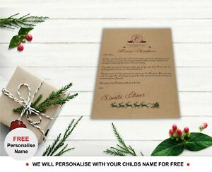Baby-039-s-First-Personalised-Letter-from-Santa-Claus-Father-Christmas-Babies-Xmas