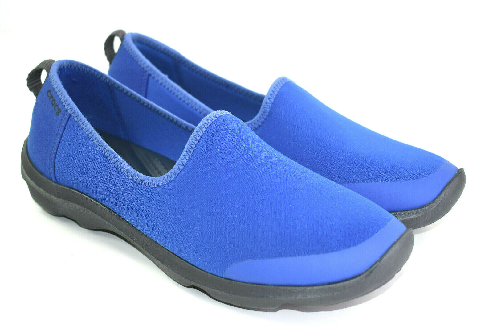 Crocs Womens Busy Day Stretch Skimmer Double Comfort shoes bluee Size 9