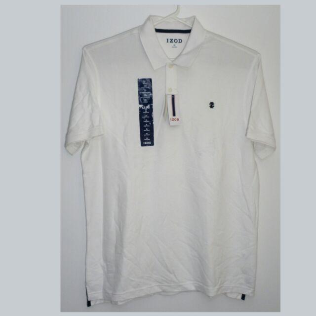 Mens IZOD 2 Button Polo Golf Shirt XL Item 1081357 Bright White Advantage