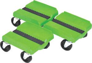 Supercaddy Super Sport Cadyzzz 3 Piece 4 Wheel Snowmobile Dolly Set Green
