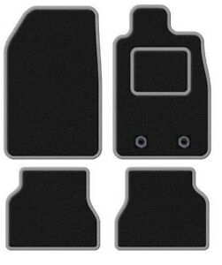 CITROEN DS4 2011 ONWARDS BLACK TAILORED CAR MATS WITH SILVER TRIM