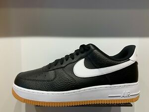Details about Nike Air Force One 1 Low Black White Gum Bottom Men GS Size 4Y 13 AF1