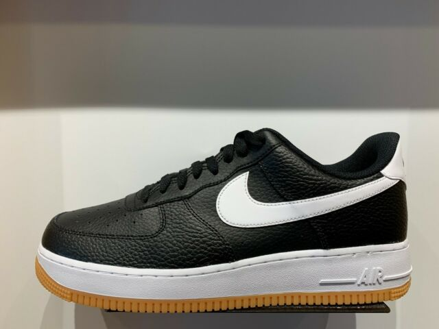 Nike Air Force One 1 Low Black White Gum Bottom Men GS Size 4Y 13 AF1