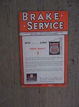 1934 Brake Service Magazine Marmon Roosevelt Adjustment Trade Paper Auto H