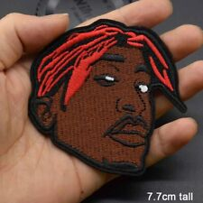 Embroidered Iron on patches Hip Hop Music 2 Pac 1890