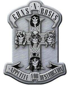GUNS-N-039-ROSES-METALL-PIN-3-APPETITE-FOR-DESTRUCTION-ANSTECKER-BADGE-BUTTON