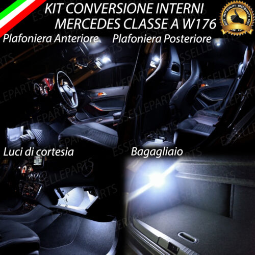 KIT FULL LED INTERNI MERCEDES CLASSE A W176 CONVERSIONE COMPLETA 6000K CANBUS