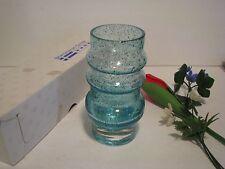 """Vintage Scandinavian Center 6""""  SPECKLED Glass Vase Sweden Made FLOWERS PLASTIC"""