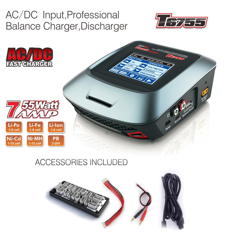 Nuevo sistema de tacto SKY RADIO CONTROL T6755 AC DC cargador descargador Pro Balance EE. UU. Gratis Envío