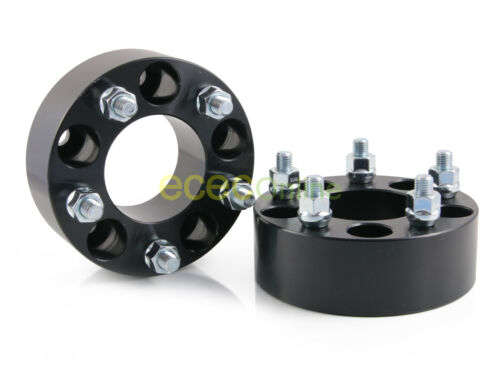 """2pc 1.25/"""" Black Wheel Adapters Spacers 5x4.5 to 5x5.51//2/"""" Studs73.1mm Bore"""