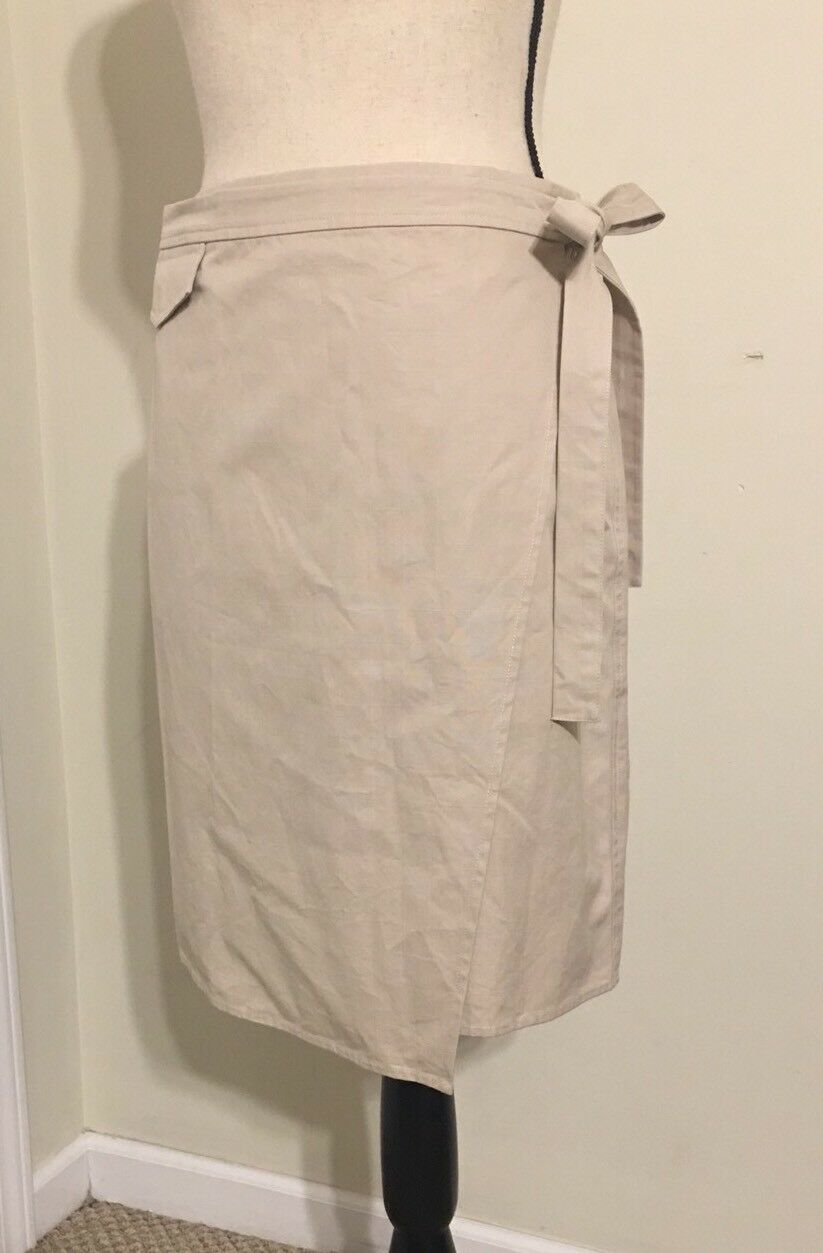NEW Madewell Tie Wrap Skirt SizeM In Dustressed Stone SAMPLE. Summer 2018