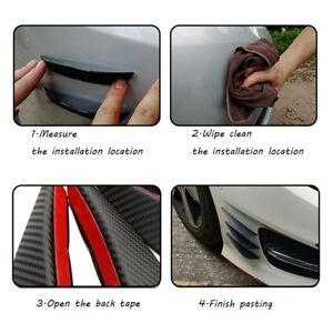 4Pcs Universal Fit Front Lip Fins Bumper Splitter Body Spoiler Canard Valence