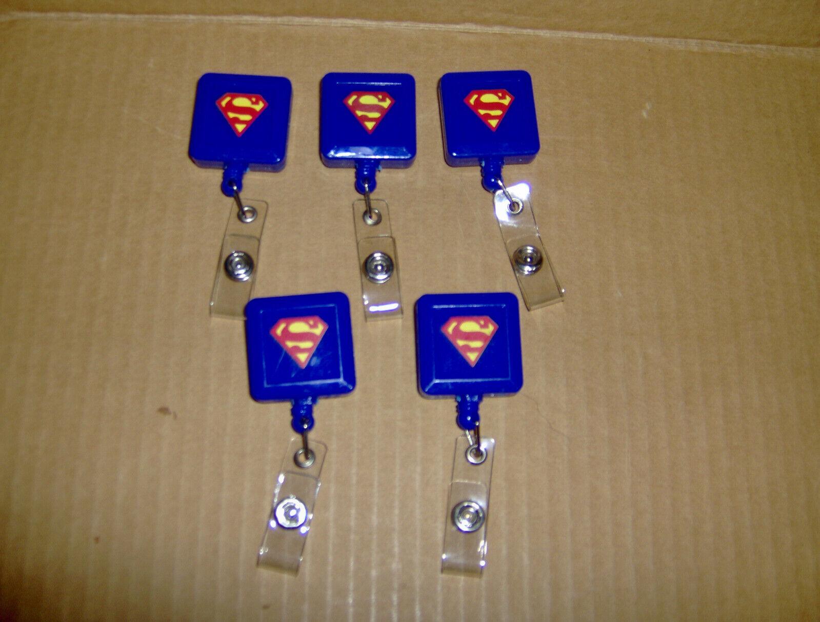 5 Superman Shield Symbol Logo Lanyard Retractable Reel ID Badge Card Pass Holder