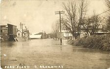 A View of a Flooded South Broadway, Peru IN RPPC