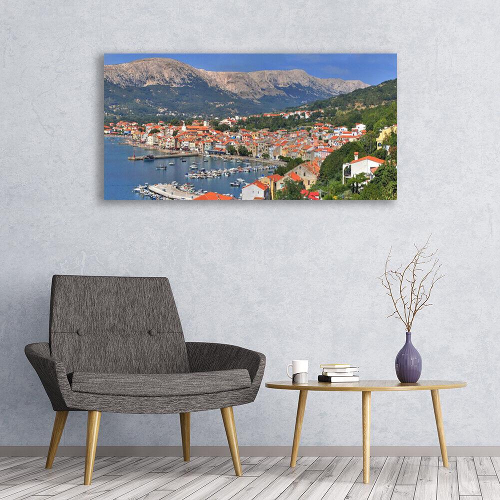 Kaifu accueille Image à la maison avec Fu Image accueille sur verre Tableau Impression 120x60 Paysage Ville Montagne Mer d0b5f3