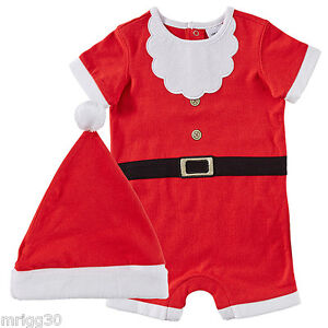 bf012720ea34 BABY size 00 CHRISTMAS SANTA SUIT with HAT summer NEW 3-6 mths ...