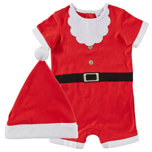 BABY size 000 CHRISTMAS SANTA SUIT with HAT summer NEW  0-3 mths outfit costume