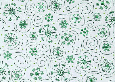 Quilting Treasures Holly Jollies Snow Flakes 100/% cotton fabric by the yard