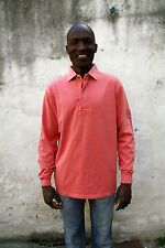 Murphy & Nye  Mens Long Sleeved Coral Polo Top Cotton Authentic L Large