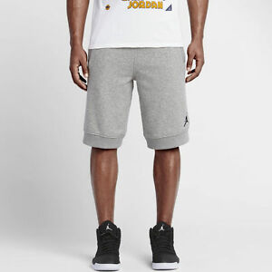 8eda1592c52535 Nike Men s Air Jordan FLEECE SHORTS Dark Grey 642453-067 a