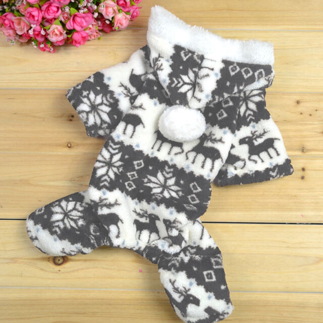 New Soft Hoodie Jumpsuit Coat Clothes Costume For Dog Pet Warm Winter