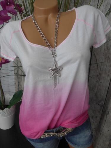 896 S weiß Rosa NEU Bloom Shirt Bluse Gr XS