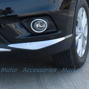 New Chrome Front Bumper Protector Lip Trim For Nissan Rogue X-trai 2014-2016