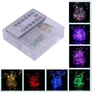 Battery-3M-Control-30LED-Silver-String-Fairy-Lights-Holiday-Lights-Remote-GA