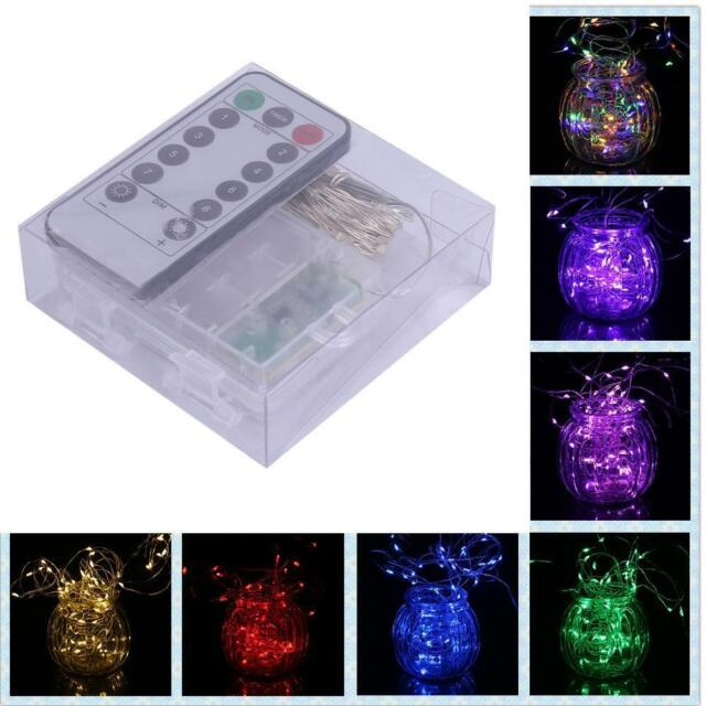 Battery 3M Control 30LED Silver String Fairy Lights Holiday Lights + Remote MT