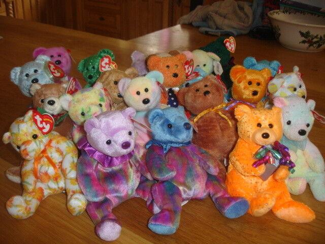 TY RETIRED BEANIE BABIES  X 22 RETIRED BEARS