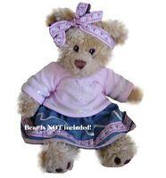 Teddy Bear Clothes Fit Build A Bear Teddies Butterfly Denim Bears Clothing