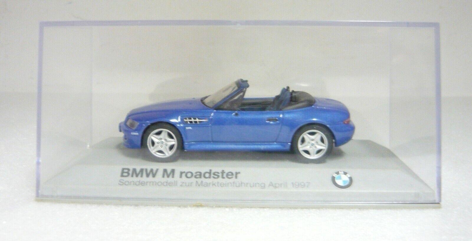 Minichamps , BMW Z3 M Roadster, estoril-blau, Promo-Model 1997, 1 43, NEU&OVP