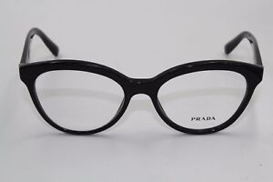 c123e2af230b Prada VPR 11R Eyeglass Glasses Frames 52-17-140 1AB-101 Made in ...