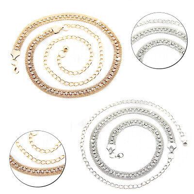 1 Filo Strass Cintura Oro Argento Elegante Catena Per Donna Gioielli Moda