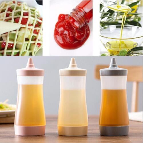 Sauce Oil Bottle Squeeze Bottle Condiment Dispenser Ketchup Salad Dressing DD