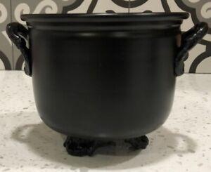 Black-Metal-Cauldron-Offering-Bowl-or-Incense-Censer