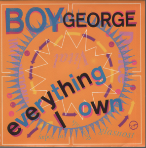 Boy-George-Everything-I-Own-45T-7-034-Inch-SP-45-Tours-ex-culture-club