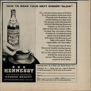 1956-Hennessy-Cognac-Brandy-Spoon-On-Fire-Vintage-Print-Ad-3186