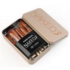 12ps NEW Nake3 Makeup Brush Set Cosmetic Brushes Blusher Eyeshadow Consealer Lip