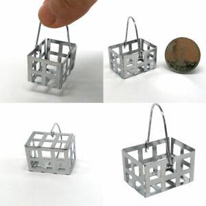 KQ_ HB- FT- EB_ BU_ 1:6 1:12 Miniature Dollhouse Furniture Metal Basket Model To