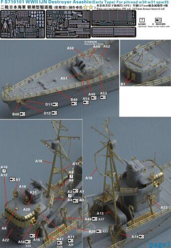 Five Star 710101 1//700 IJN Asashio Early Upgrade Set for Pitroad W30//W31//SPW35
