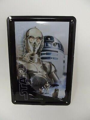 Star Wars Blechschild 10x 14,5 cm 2009 Lucasfilm 10 cm x 14,5 cm